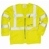 Jólláthatósági vezetői dzseki  sárga