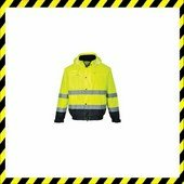 Hi-Vis kéttónusú bomber kabát  sárga
