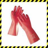 STANDARD kesztyű PVC 35 cm piros 11,5