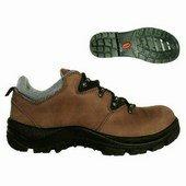 TRIP (S3) barna színbőr cipő, acél kapli, talplemez