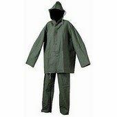 Vízálló esőruha öltöny pvc legolcsóbb, derekas nadrág + kabát zöld