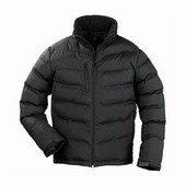 NORSK fekete steppelt vízhatlanított és szélálló kabát Fekete