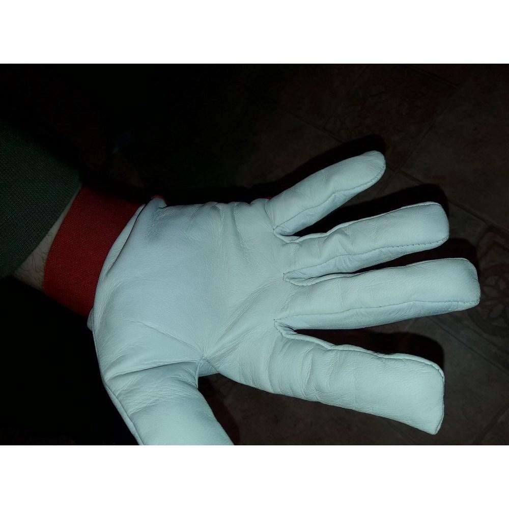 Tépőzáras Finom Kecskebőr Kesztyű Piros Kézháttal Rewear