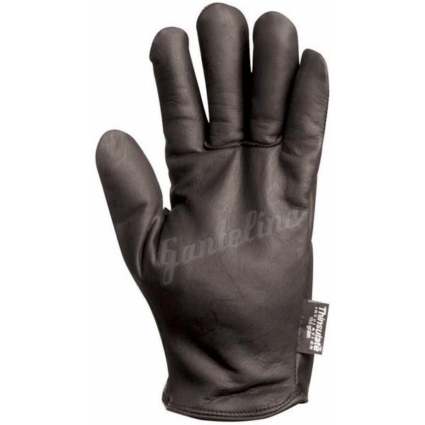 Kerguelen bélelt kesztyű- fekete borjúbőr 3M polár béléssel