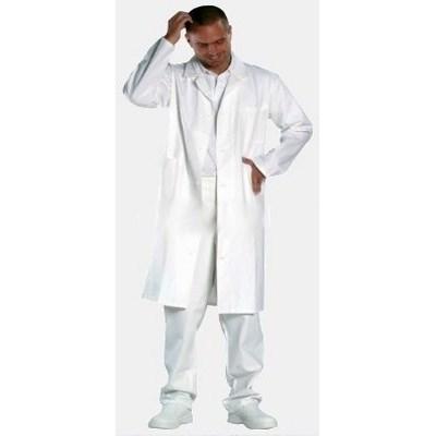 Orvos köpeny, 120 cm hosszú, 100% pamut, fehér