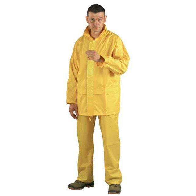 Vízhatlan sav- és lúgálló orkánruha sárga