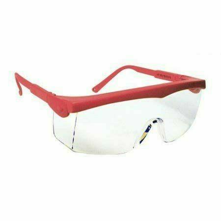 Pivolux szemüveg, piros keret, víztiszta lencse, állítható dőlés
