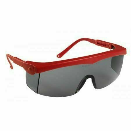 Pivolux szemüveg, piros keret, sötétített lencse, állítható