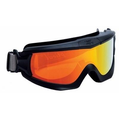 I-lux szemüveg piros tükrös lencse, indirekt szellőzés