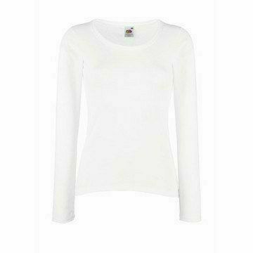 Fruit of the Loom Lady Fit Valueweight Long Sleeve T fehér póló
