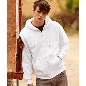 Fruit of the Loom Hooded Sweat Jacket-kapucnis pulóver