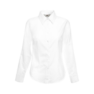 Fruit of the Loom Lady-Fit Long Sleeve Oxford Shirt hosszú ujjú