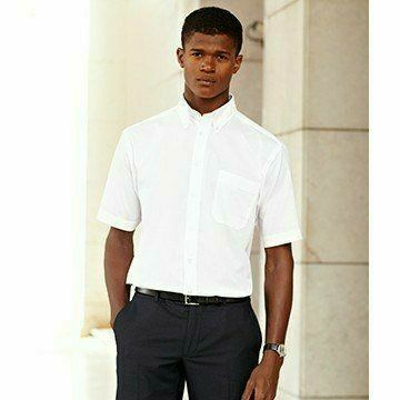 Fruit of the Loom Short Sleeve Oxford Shirt-Oxford ing fehér