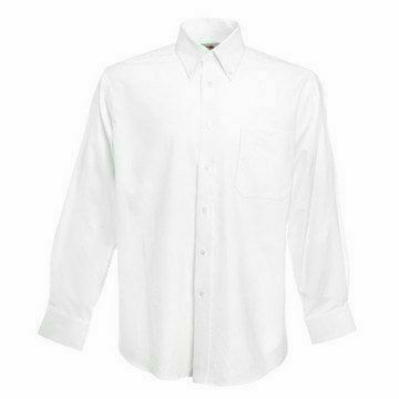 Fruit of the Loom Long Sleeve Oxford Shirt- hosszúujjú ing fehér