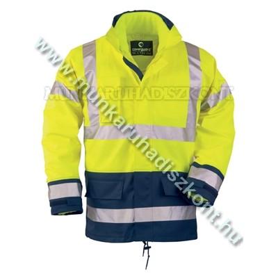 FLUO PU 4/1 sárga/kék, szellőző Breathane: polár mellény+polár