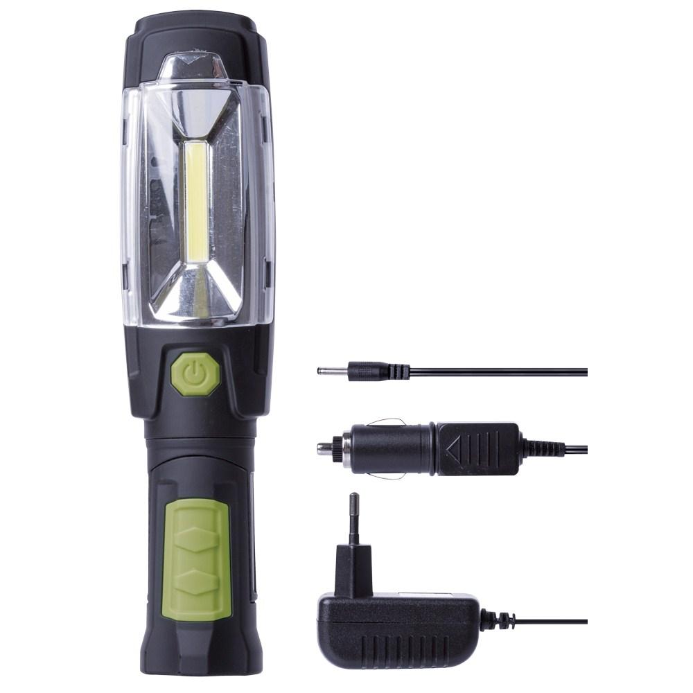 COB LED Tölthető zseblámpa+6led P4518