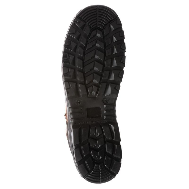 GRANITE (S3 CK) barna nubukbőr cipő,  kompozit