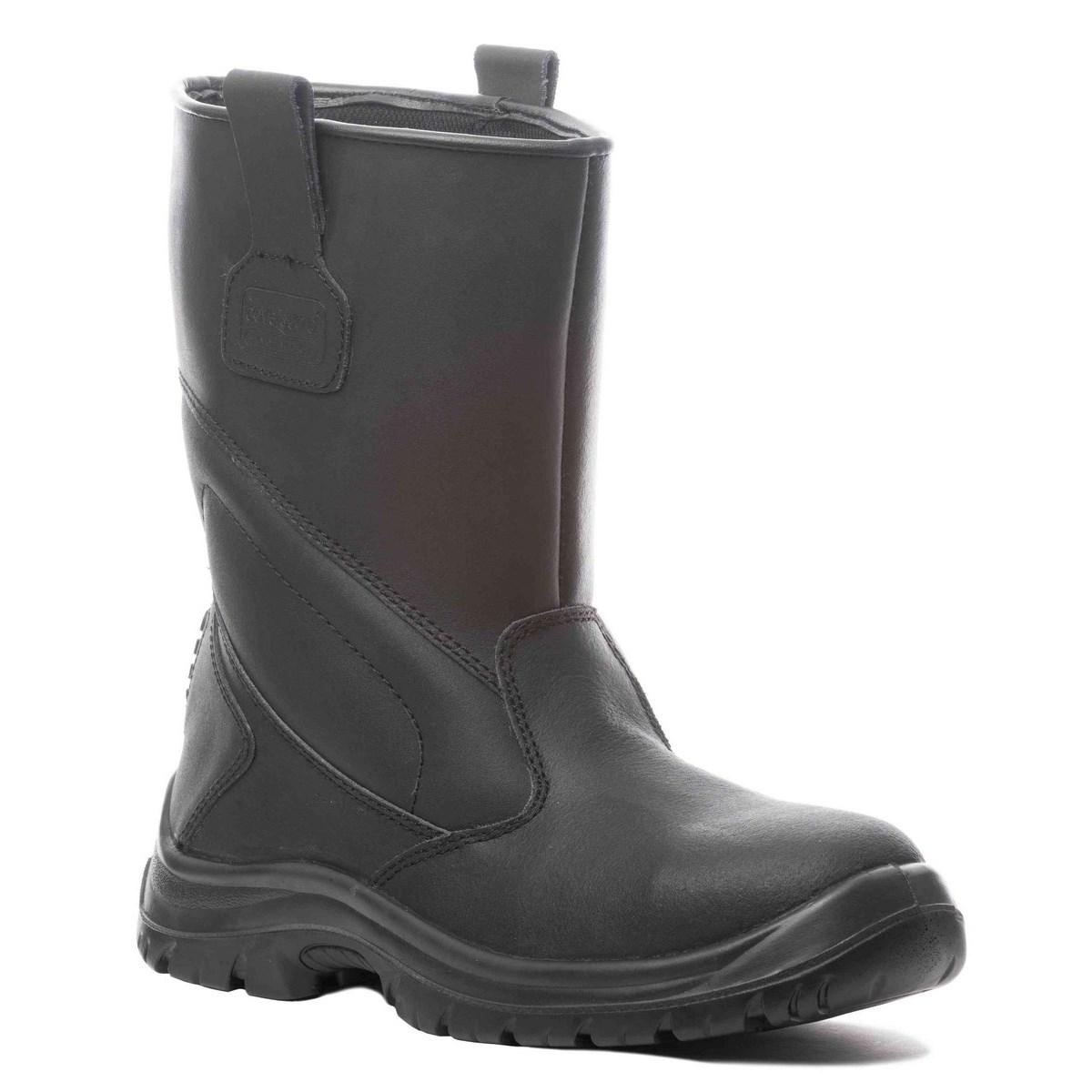 PLATINUM (S3 CK) fekete színbőr, kompozit lábujjvédő, Welmax