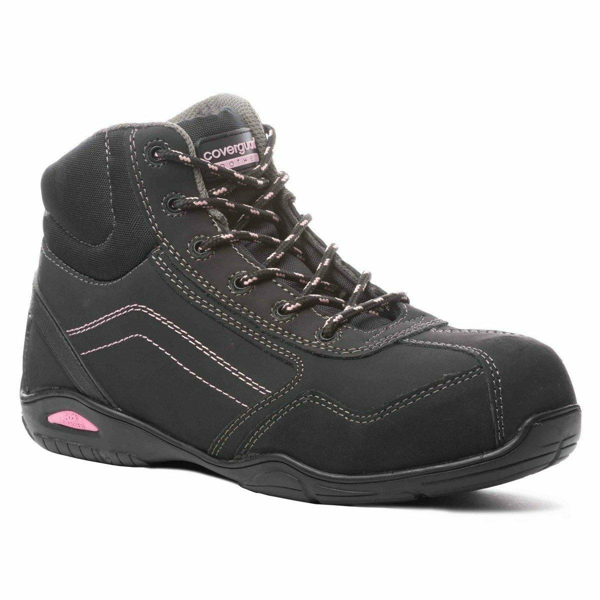 RUBIS (S3 CK) fekete nubuk cipő és bakancs, kompozit, fémmentes