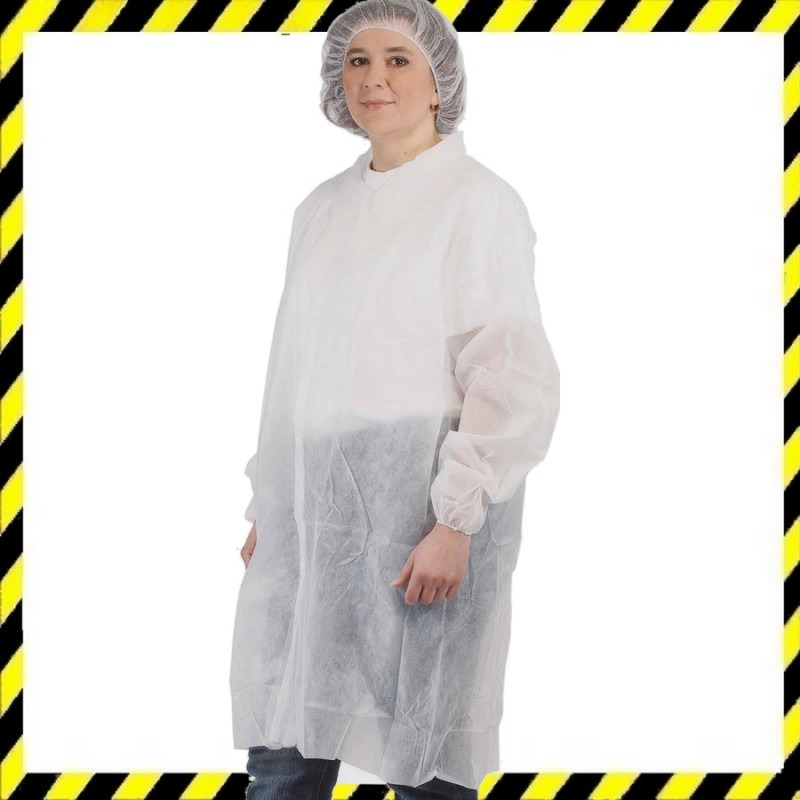 Egyszer használatos köpeny, polypropylén, kosz ellen véd, fehér