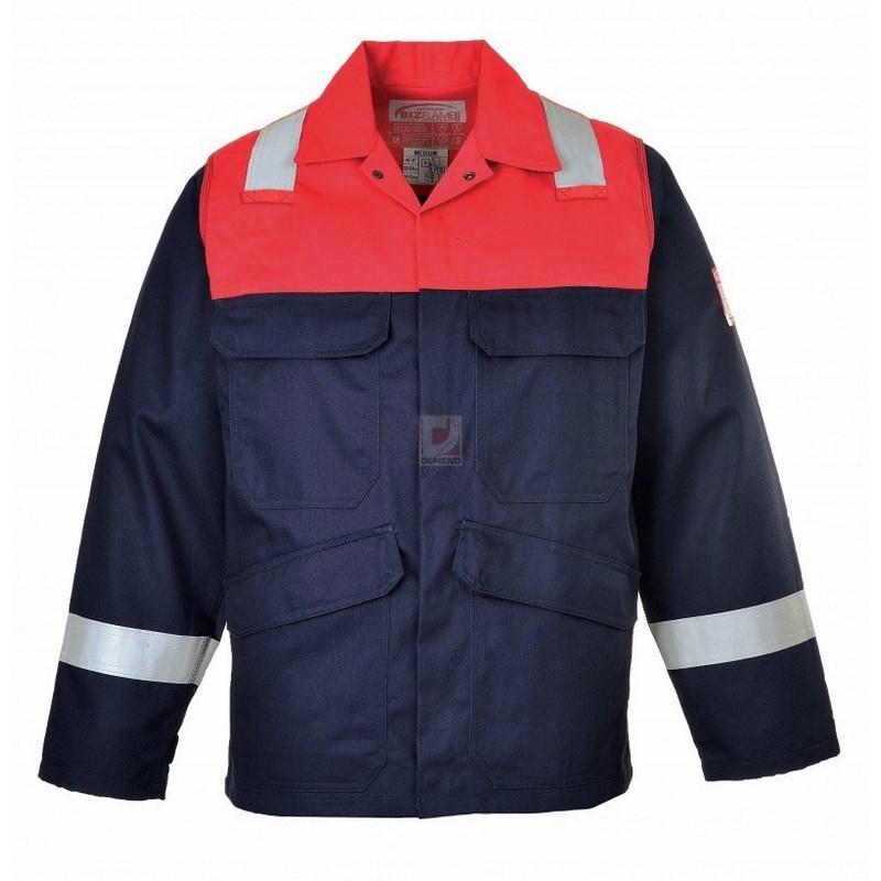 Antisztatikus kéttónusú kabát tengerészkék