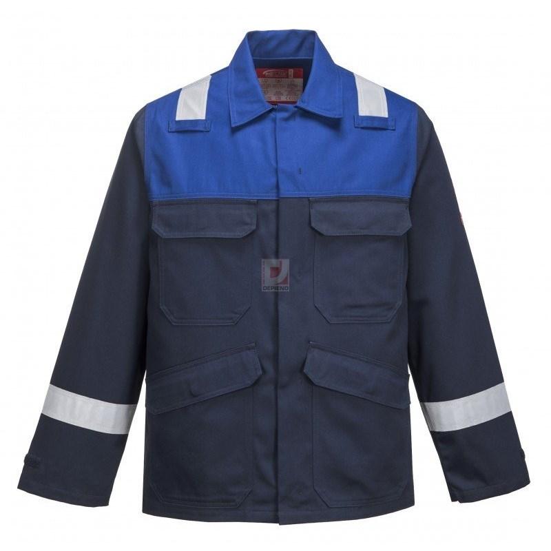 Antisztatikus kéttónusú kabát tengerészkék / royal