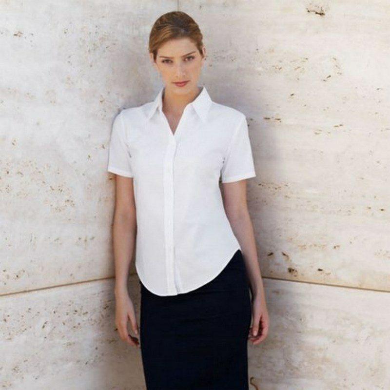 Fruit of the Loom Lady-Fit Short Sleeve Oxford Shirt női ing fe