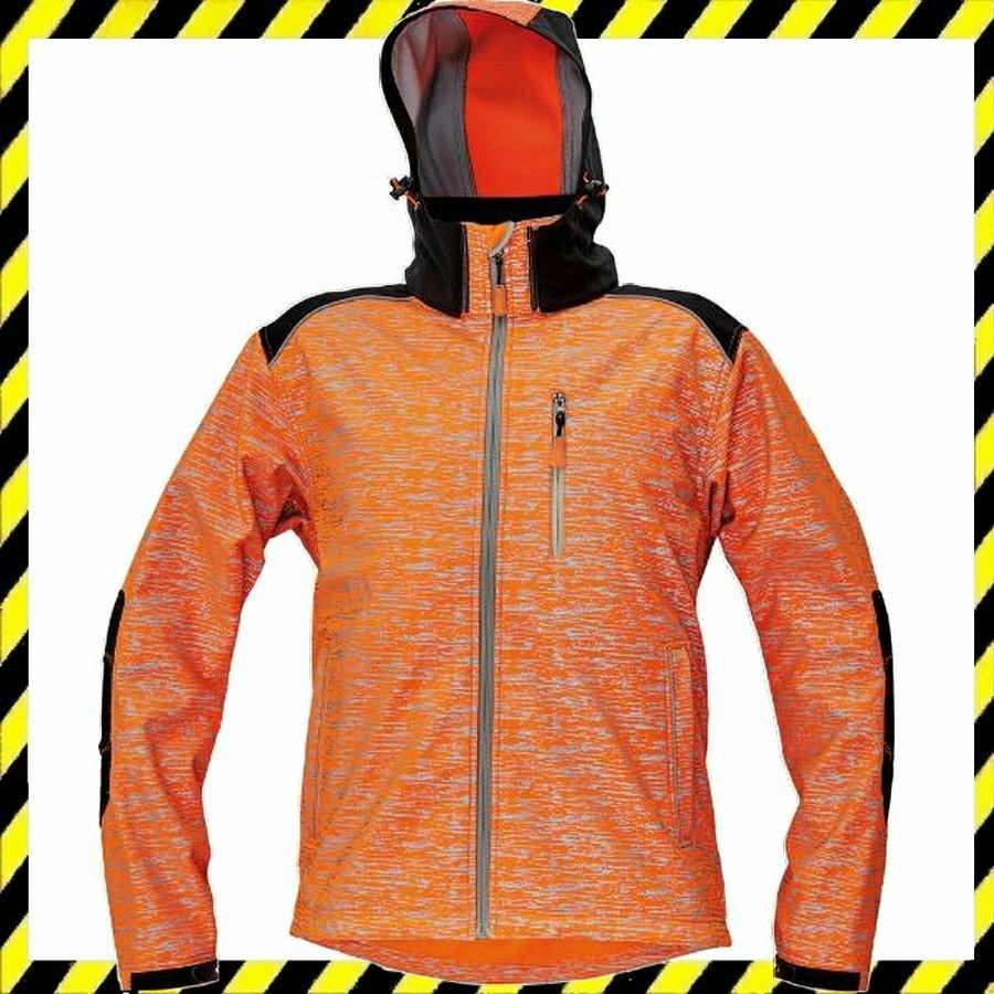 KNOXFIELD softshell dzseki jólláthatósági mintával narancssárga