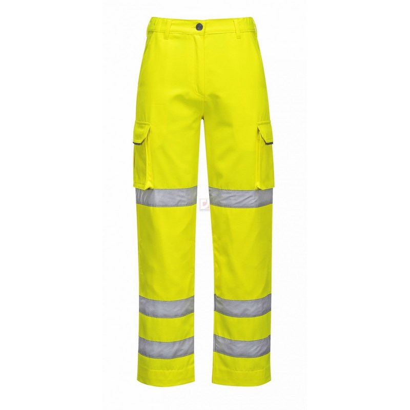 Női jól láthatósági nadrág sárga