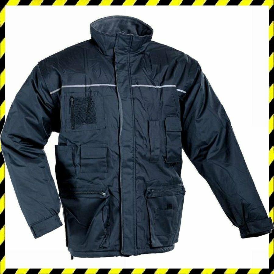Libra kabát vízálló, meleg béléssel és levehető ujjal sötétkék