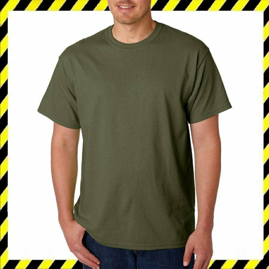 Gildan 5000 Military Zöld Zöld Póló- 100% pamut! S-5XL Méretig!