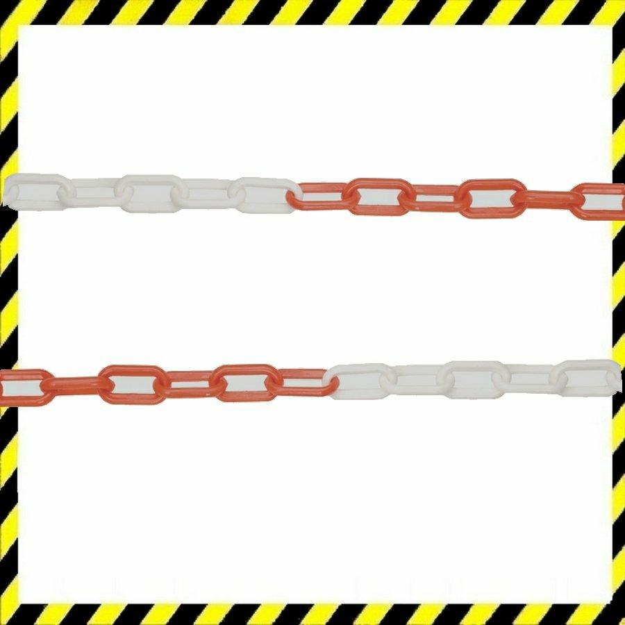 JSP műanyag jelző lánc 8mm/25m piros/fehér