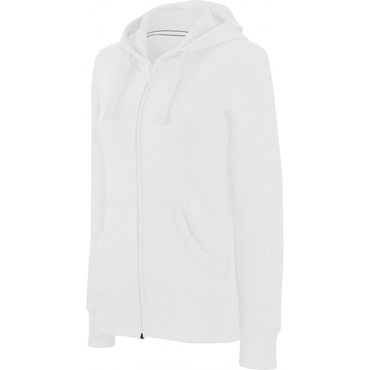 NŐI HOODED FULL ZIP SWEATSHIRT  wh