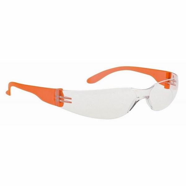 Wrap védőszemüveg víztiszta lencse-narancs szár