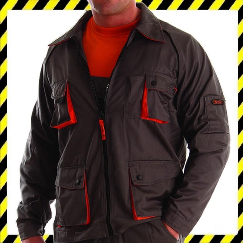 ROCK szürke-narancssárga kevertszálas dzseki