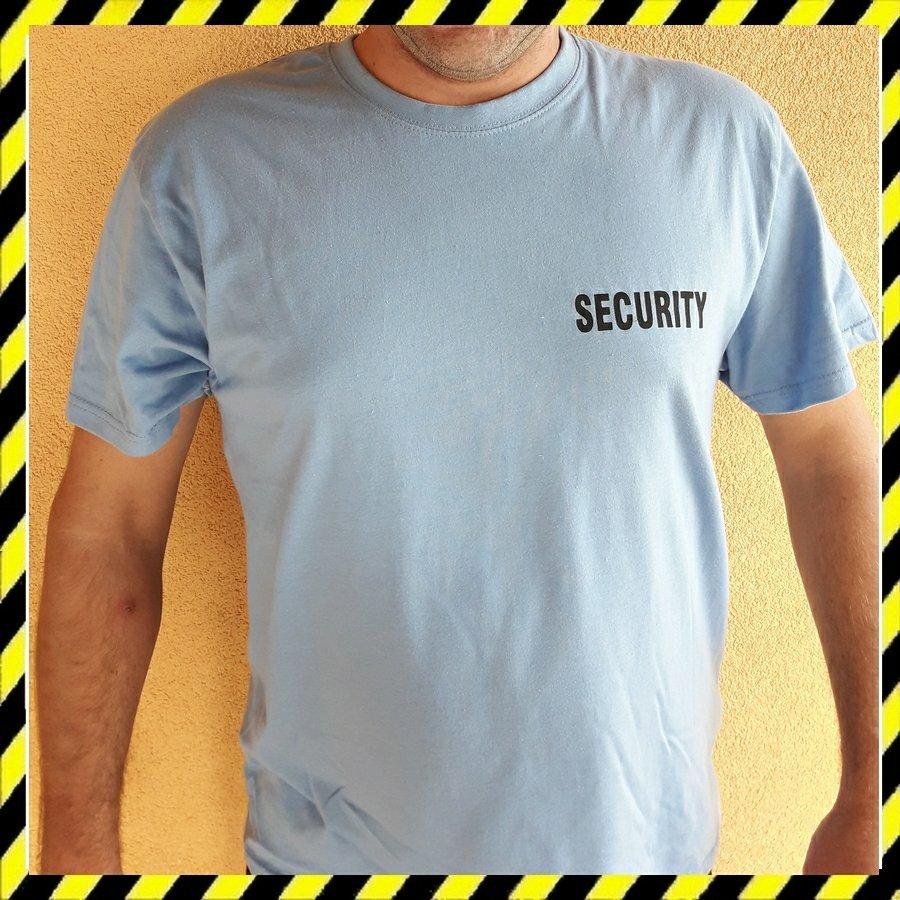 Biztonsági Őr póló - Security póló legolcsóbb Világoskék