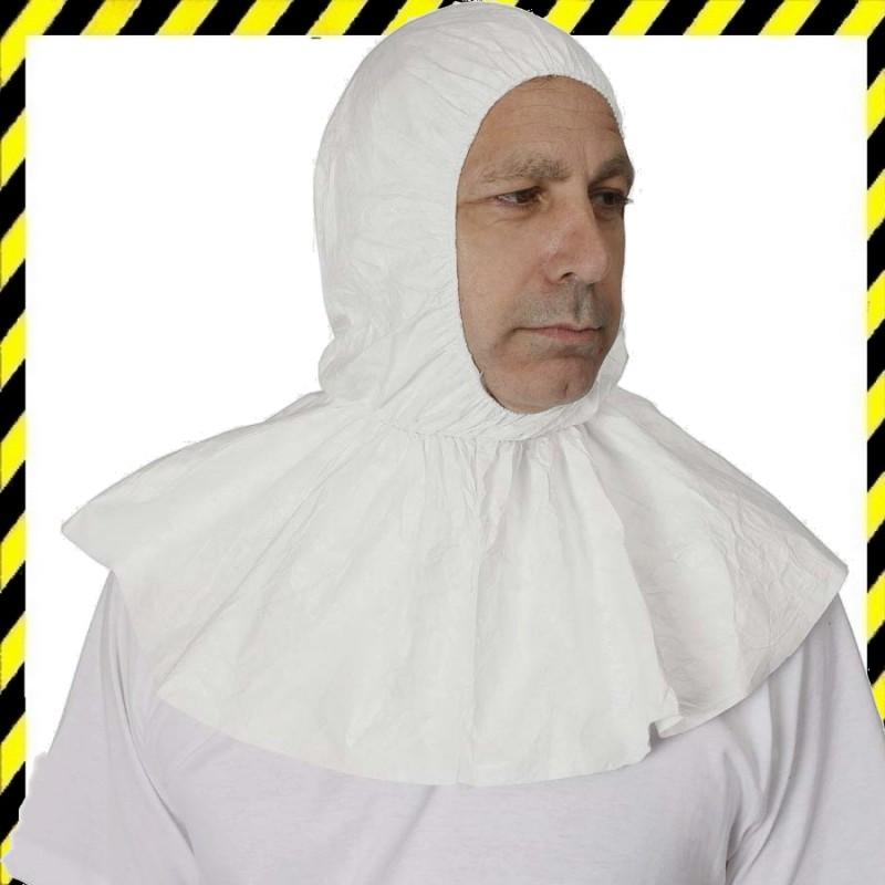 Kámzsa -  Tyvek kapucni (nyakrész-fejvédelem egyben), fehér színű