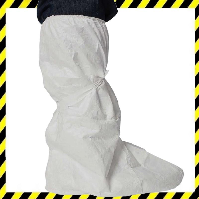 Tyvek magas szárú cipővédő, fehér színű