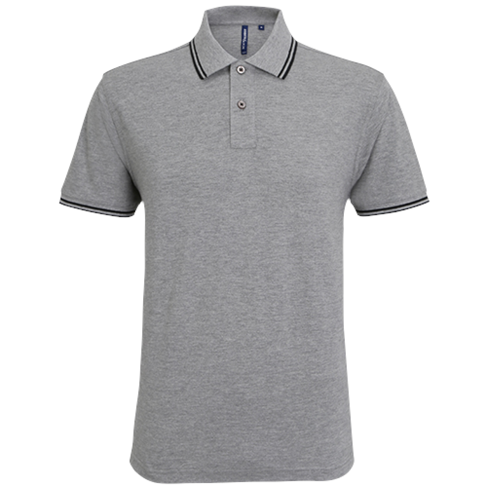 FÉRFI CLASSIC FIT TIPPED POLO hgr/bl