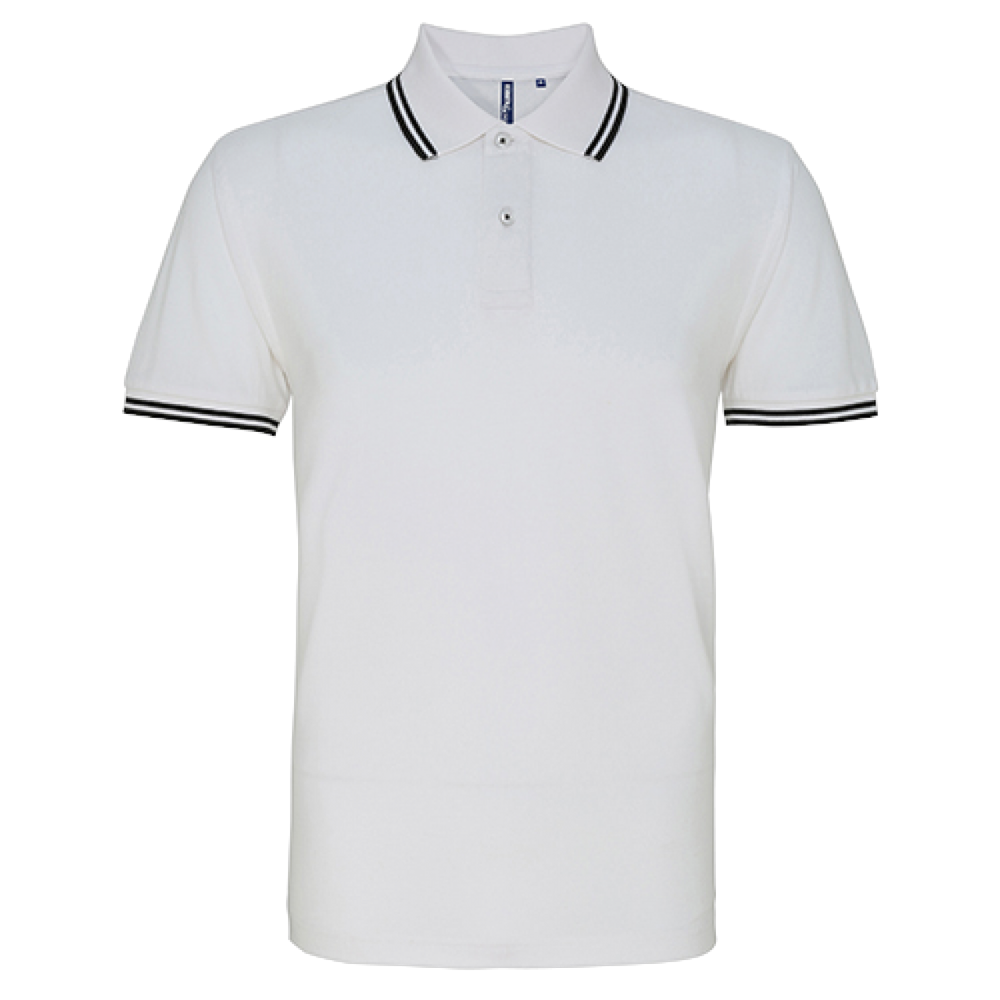 FÉRFI CLASSIC FIT TIPPED POLO /wh/nv
