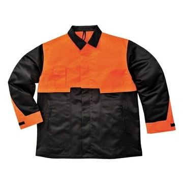 Favágó kabát fekete/Narancs XXL