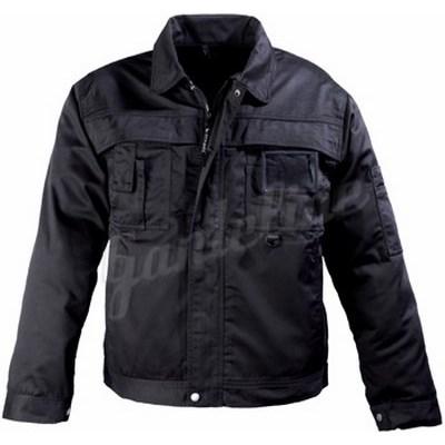 CLASS fekete kabát, cipzáras plusz patentos, 8 zseb