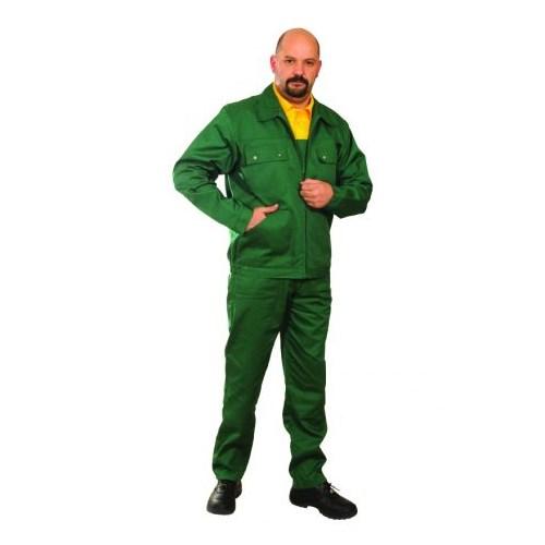 Ecogreen kevertszálas dzseki - zöld munkaruha kabát