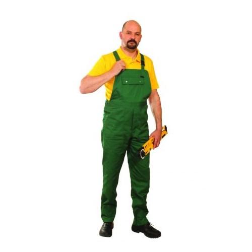 ECOgreen kevertszálas mellesnadrág- zöld kertésznadrág