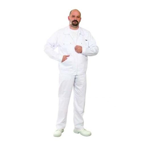 Ecowhite kevertszálas dzseki - fehér munkaruha kabát