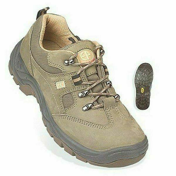 EMERALD (S1P)CK khaki zöld nubuk cipő, kompozit betét, TPU
