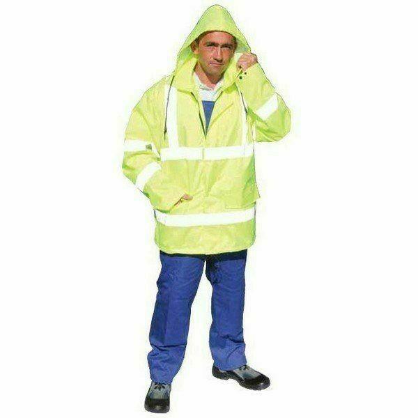 Jóláthatósági dzseki kapucnival, citromsárga