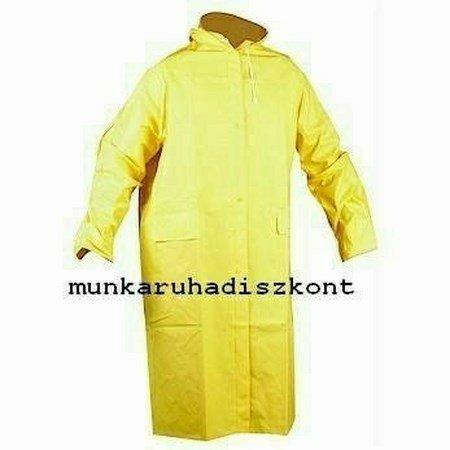 Legolcsóbb Esőkabát, Sárga, 120 cm hosszú, PVC - Cetus