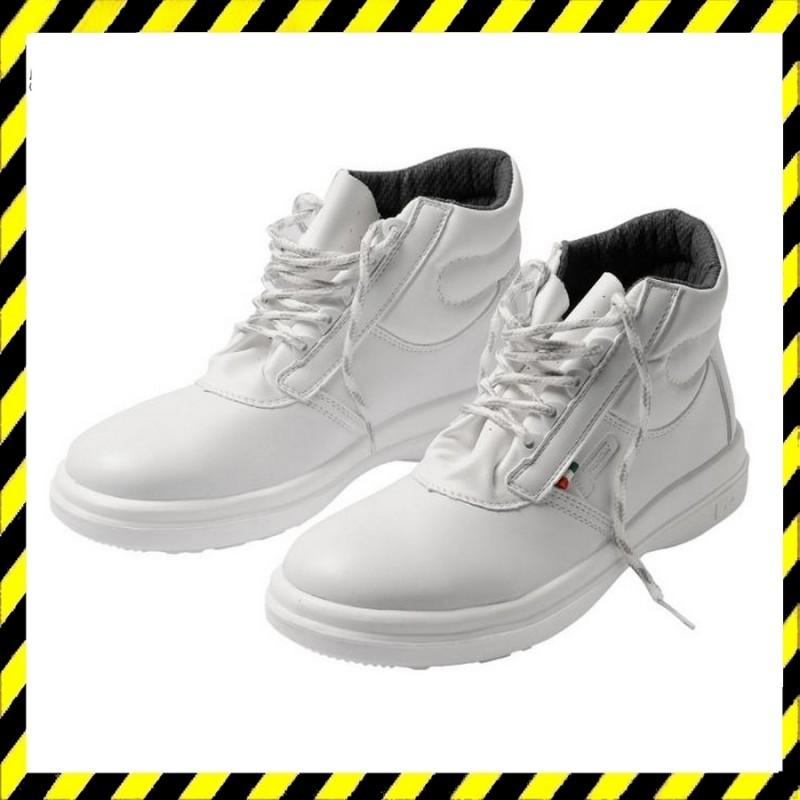SANITARY Ankle S1 bakancs fehér, acél orrbetétes -munkavédelmi