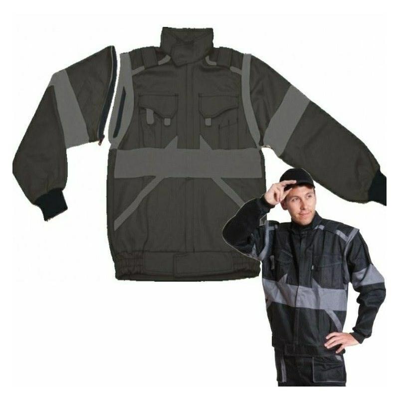 EDA Fekete/Szürke kabát pamut, mellényé alakítható